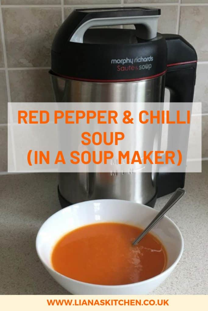 Red Pepper and Chilli Soup in a Soup Maker