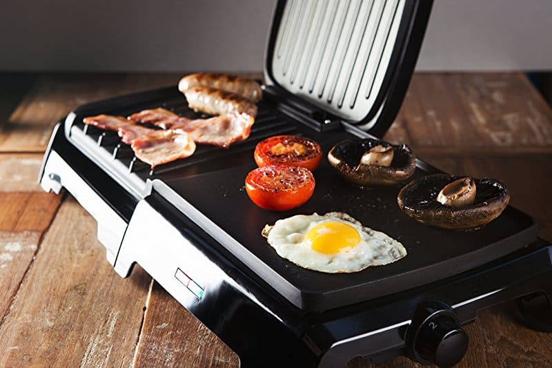 full English breakfast on george foreman grill
