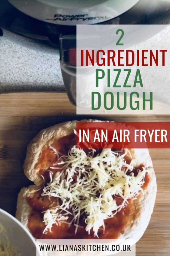 2 ingredient pizza dough in an air fryer