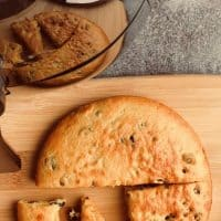Air Fryer Apricot and Raisin Cake