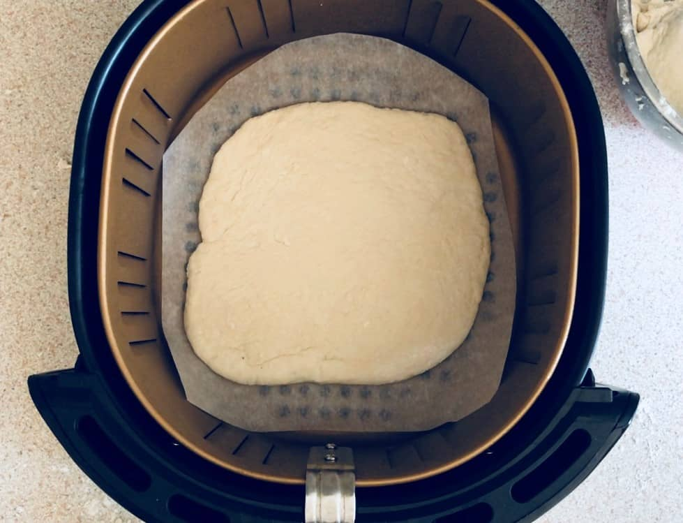 Dough in air fryer