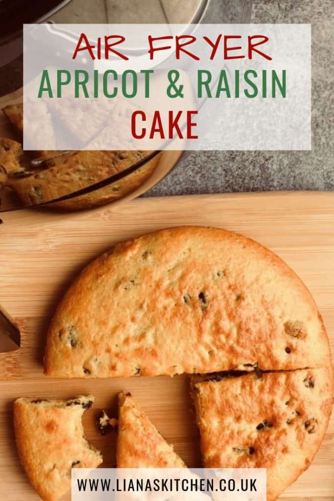 apricot and raisin cake in an air fryer