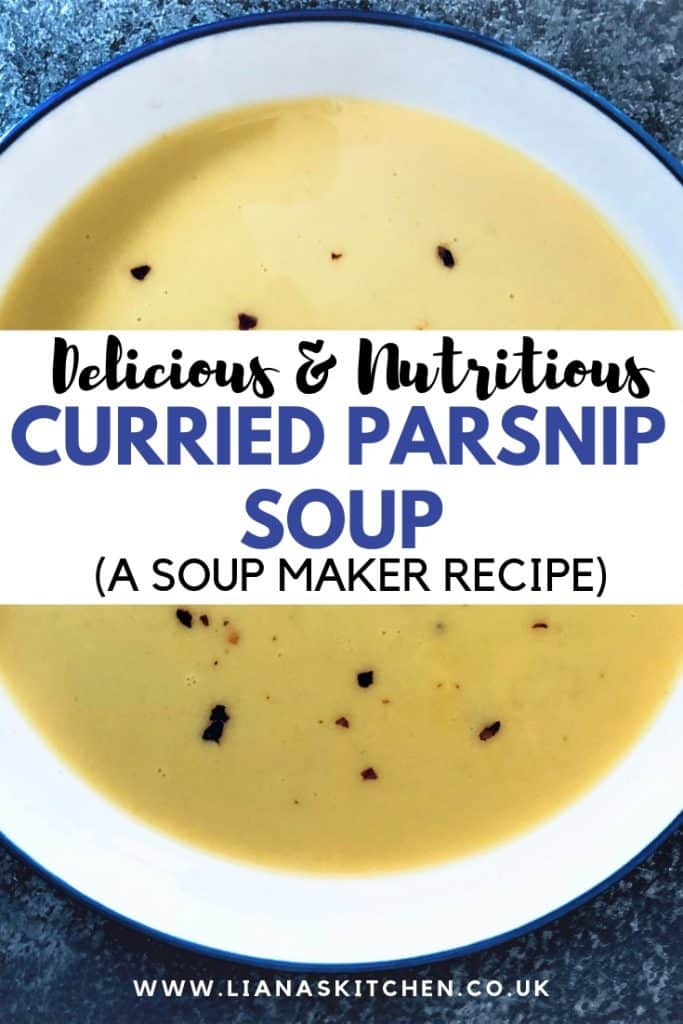 curried parsnip soup in a bowl