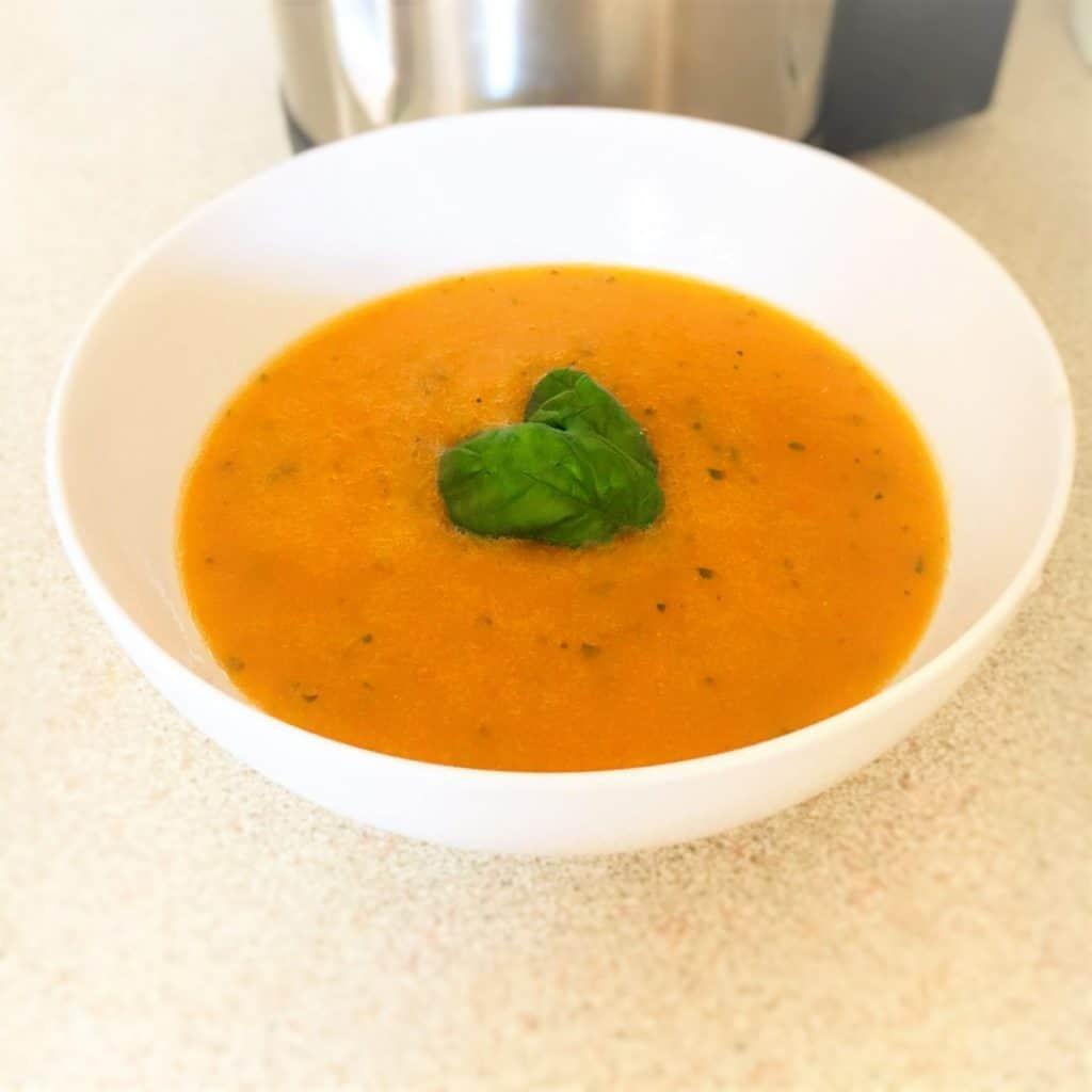 Tomato & Basil Soup In Soup Maker