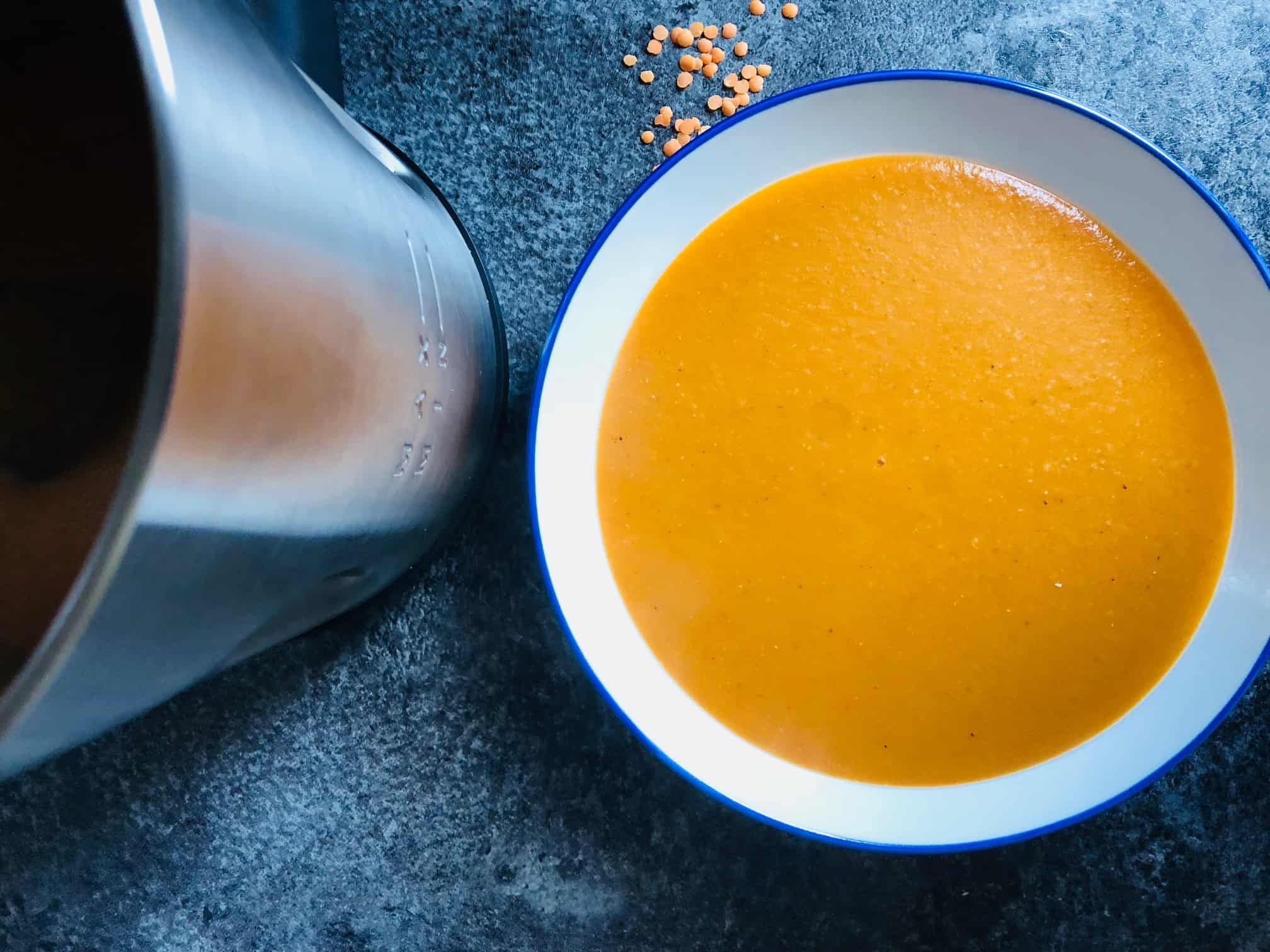 butter bean and red lentil soup in Morphy Richards Soup Maker