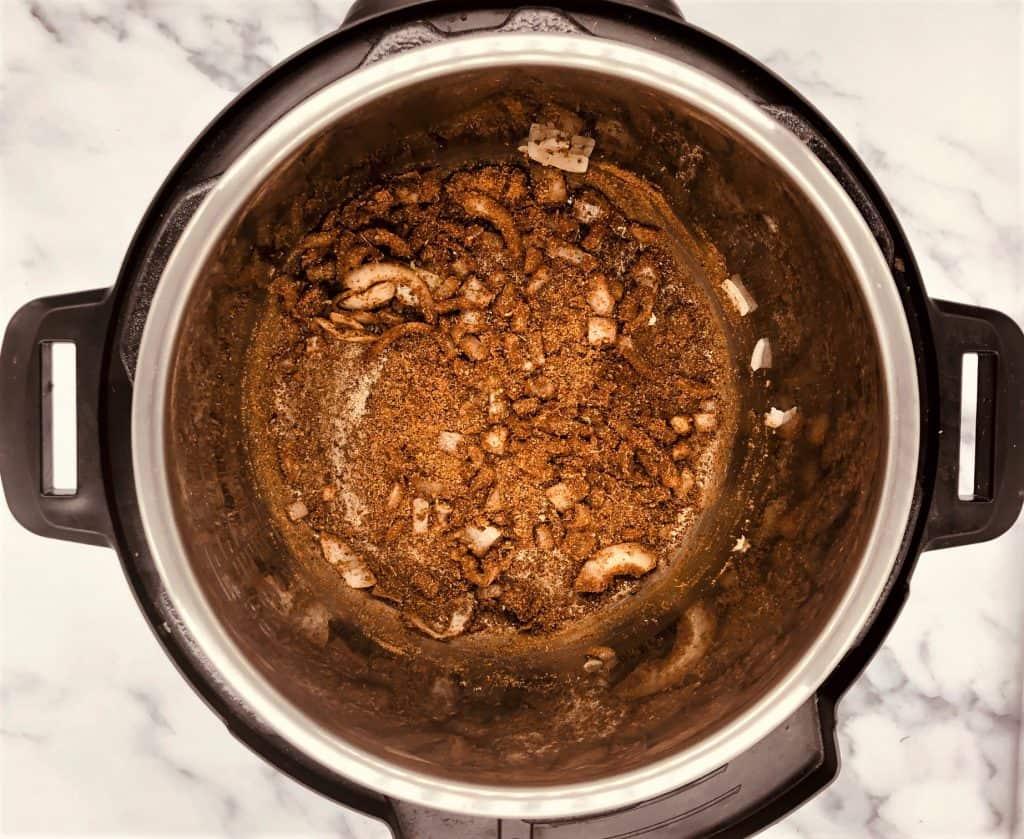 chicken tikka spices in Instant Pot