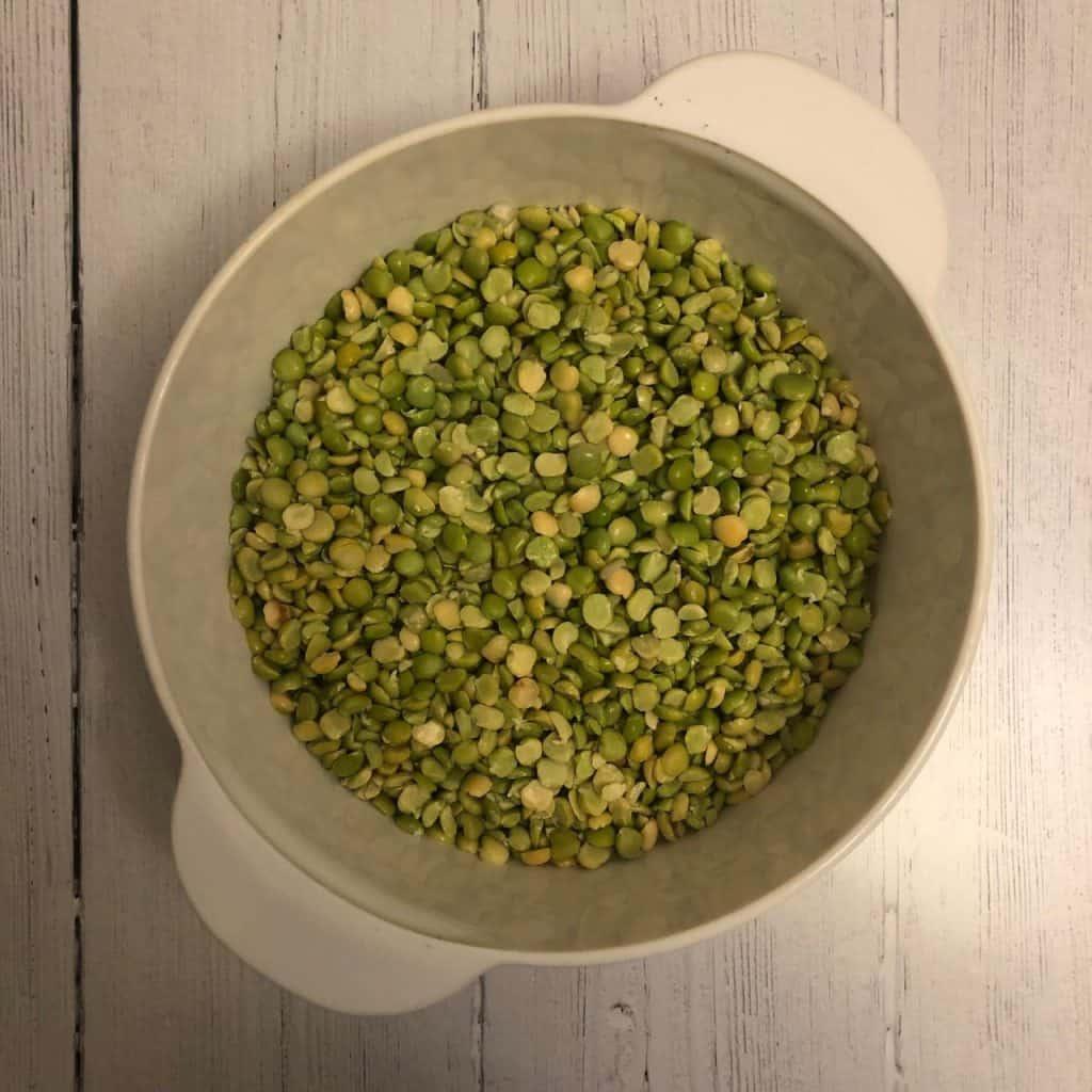green split peas in a bowl