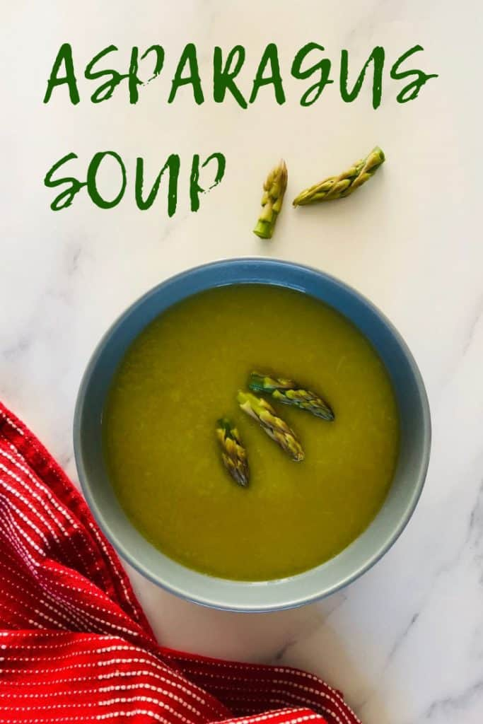 asparagus soup in a bowl