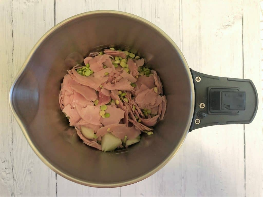 green split peas and ham in soup maker