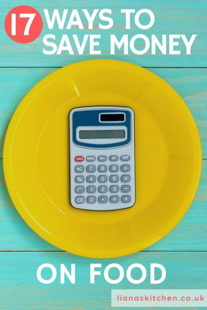 calculator on plate for food budget