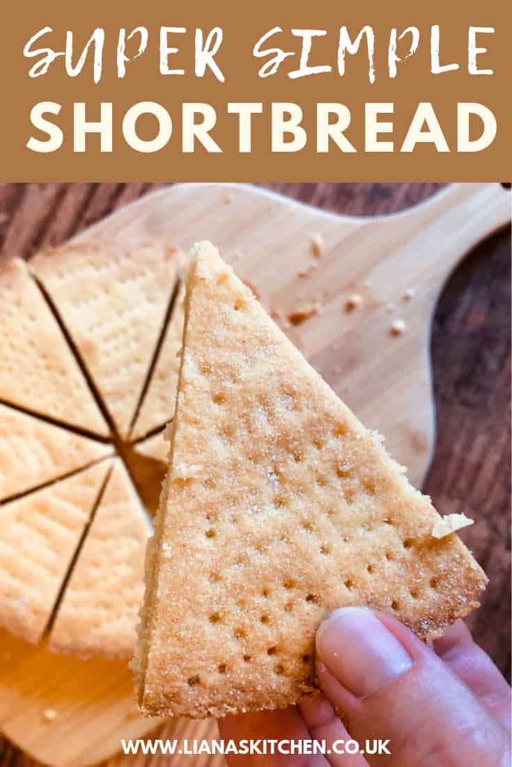 Shortbread cut up into slices