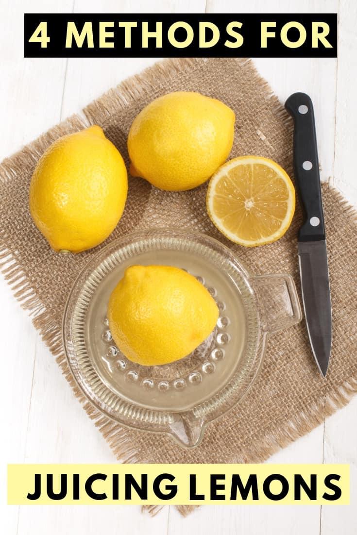 equipment for juicing lemons
