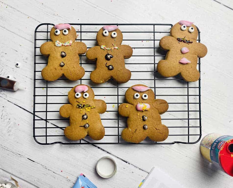 gingerbread men decorated