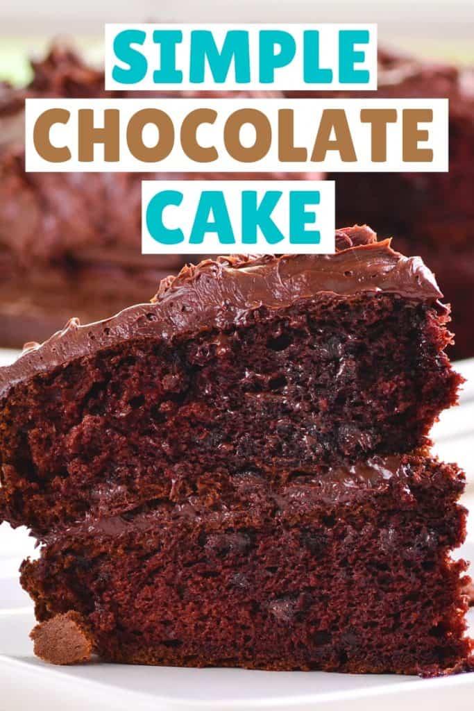 sliced up chocolate cake