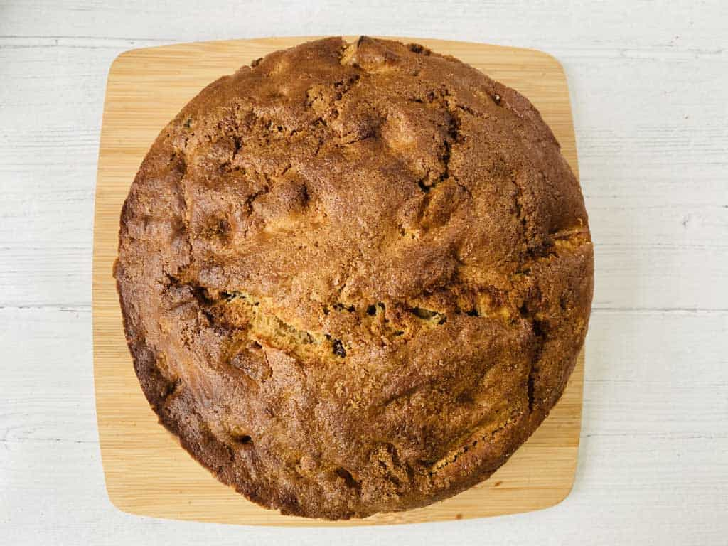 apple cake straight from the oven