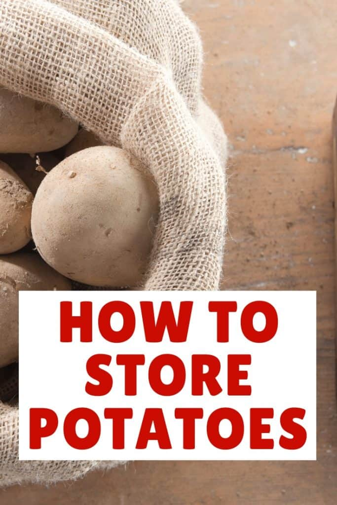 how to store potatoes in a hessain sack