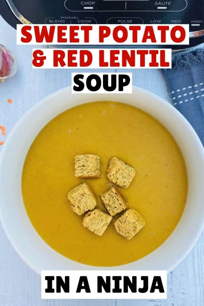 Sweet potato and red lentil soup in a ninja