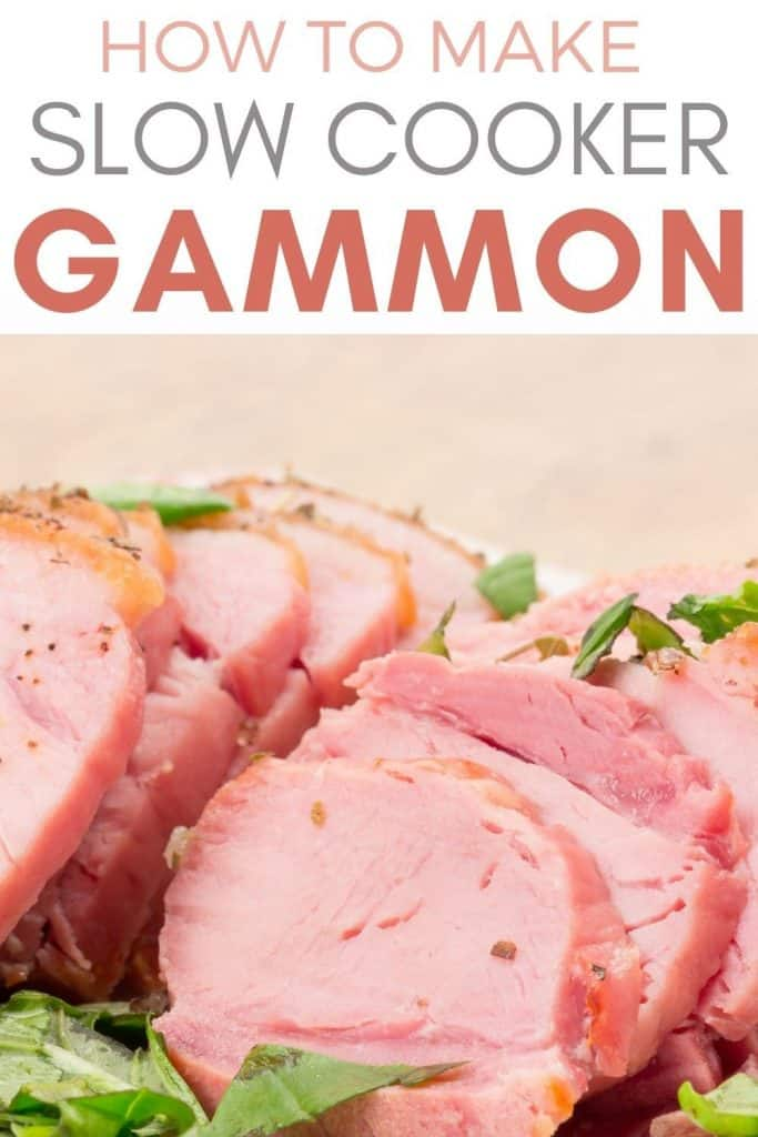 slices of gammon from slow cooker