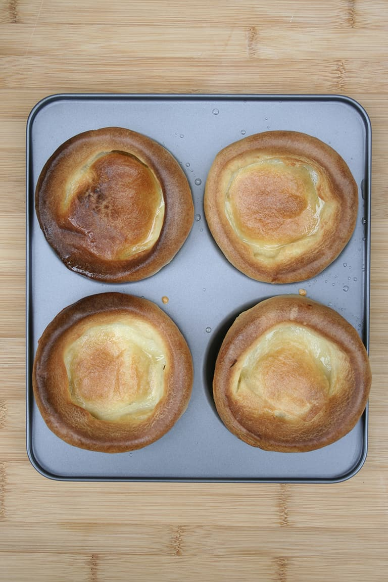 Yorkshire puddings, cooked in tray
