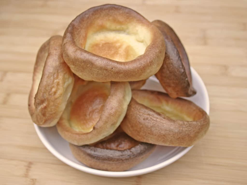 Yorkshire puddings served in a bowl