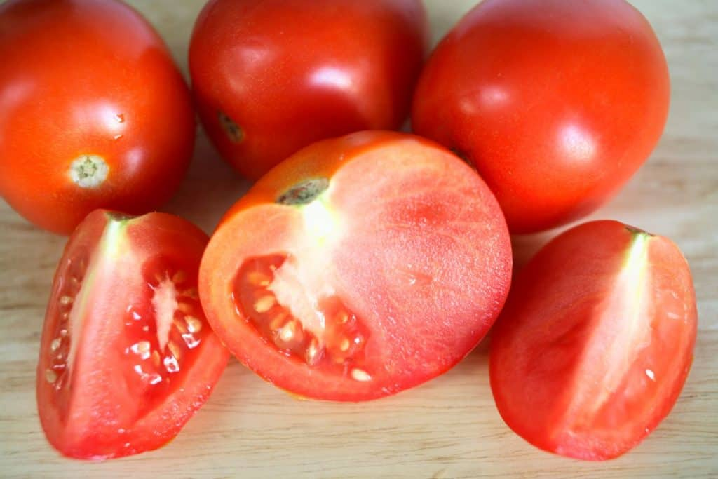 chopped tomatoes for passata