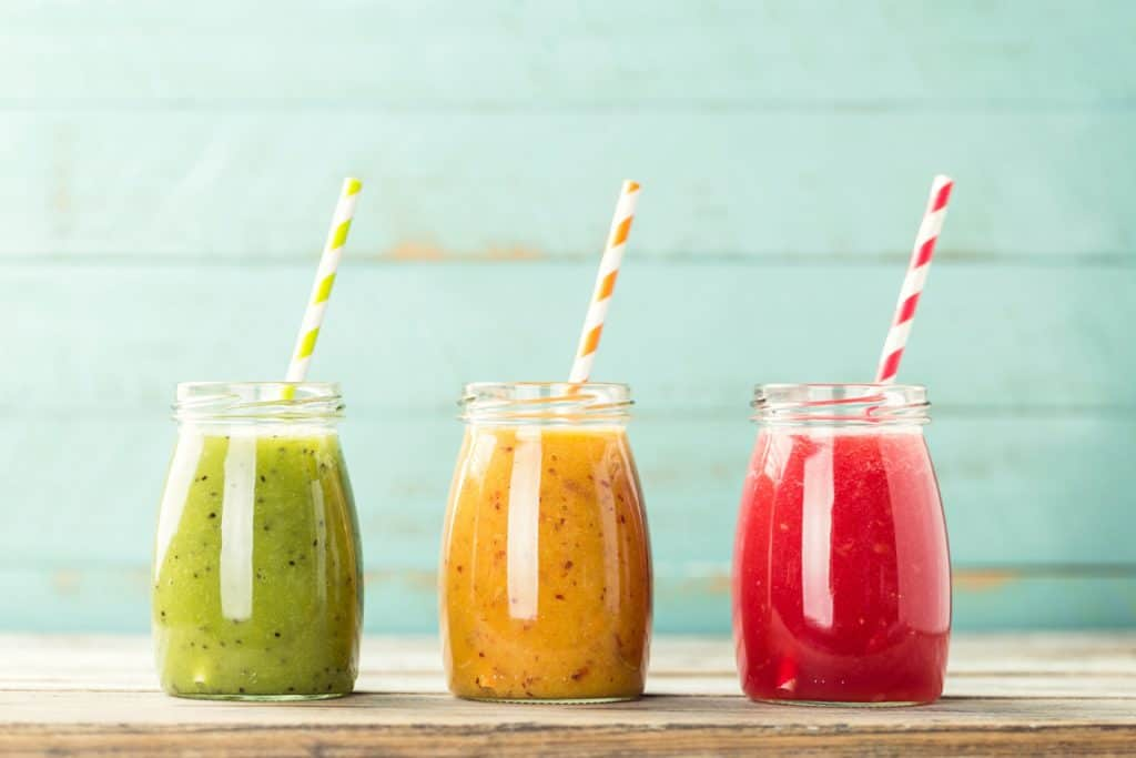 3 smoothies in a row
